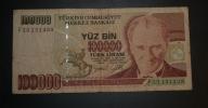 TURQUIE - Billet De 100.000 - 1970 - N°F23131439 - Turchia