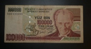 TURQUIE - Billet De 100.000  - 1970 - N°G60733305 - Turchia