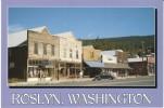 Roslyn WA Washington, Old Downtown Street Scene, Volkswagen Beetle Auto,  C1990s Vintage Postcard - United States