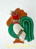 Animals: Birds Cock - Rooster / Old Soviet Badge _35_an0045 - Animales