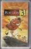 LE ROI LION 3   Walt Disney   VHS Couleur  Version Française  Durée 1h13mn - Cartoons