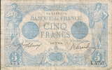 - FRANCE - BILLETS - 5 F BLEU - MARS 1915 - N° 474 - K . 4737 - 1871-1952 Anciens Francs Circulés Au XXème
