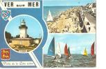 CP, 14, Ver-sur-Mer, Le Phare, Les Régates, La Plage, 1973, Voyagée - Francia