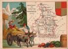 BELLE CHROMO DEPARTEMENT GEOGRAPHIE DE LA FRANCE  HAUTES PYRENEES  VIN - Vieux Papiers