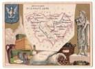 BELLE CHROMO DEPARTEMENT GEOGRAPHIE DE LA FRANCE   HAUTE LOIRE RUBANS SAVON LEGUMES SECS  PLOMB HOUILLE LIQUEUR - Vieux Papiers