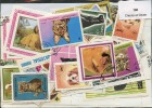 Lot 100 Timbres Chiens Et Chats - Vrac (max 999 Timbres)