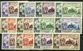 Serie Coloniale 10ieme Anniversaire De La Libération 1954 * (charniere) 12 Valeurs - France (former Colonies & Protectorates)