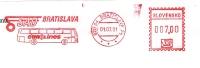 A3 SLOVAKIA 2001. MACHINE STAMP CUT FRAGMENT EUROLINES BRATISLAVA BUS - Busses