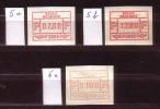ATM 5a - 5b - 6a ** - 3 Vignettes -  De 20 % De La Cote C.O.B.. - Vignettes D'affranchissement