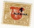 Lietuva Lithuania 4 Auksinai Auksina Abart  RARE 1922 - Lithuania