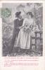 """19500 Couple Amoureux, """"je Veux Bercer Ton Ame Fermer Tes Yeux """"  N° 1 -série Jardin 1907 - Couples"""