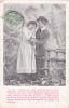 """19502 Couple Amoureux, """"je Veux Bercer Ton Ame Fermer Tes Yeux """"  N° 6 -série Jardin 1907 - Couples"""