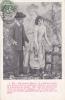 """19503 Couple Amoureux, """"je Veux Bercer Ton Ame Fermer Tes Yeux """"  N° 5 -série Jardin 1907 Fleurs - Couples"""
