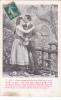 """19504 Couple Amoureux, """"je Veux Bercer Ton Ame Fermer Tes Yeux """"  N° 4 -série Jardin 1907 Fleurs Baiser - Couples"""