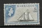 Barbados 1954 8 Cents Black And Blue - Barbados (...-1966)