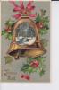 CPA 1910  :  Joyeux Noêl , Gui Et Cloche ( Léger Relief ) - Kerstmis