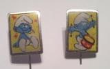 Pins Smurf / Schtroumpf / Schlümpf 2 X Pin Old Pin - Comics