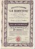 Societe MINIERE LA BARYTINE Part De Fondateur  Au Porteur - Mijnen
