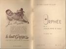 Orphée Par Le Choeur-mixte De Bulle, 1946, Livret Officiel, Réclames De Commerces,  Lait Guigoz Etc. - Programmes