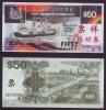 (Replica)China BOC (bank Of China) Training/test Banknote,Singapore 50$ Note Specimen Overprint - Singapore
