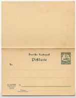 Deutsch-OSTAFRIKA  P 15  Antwort-Postkarte   **  1900  Kat. 12,50 € - Kolonie: Deutsch-Ostafrika