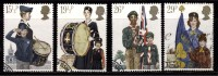 Great Britain Used 1982, Set Of 4, Youth Organization, Scout, Guide. Brigade, Music Instruments, Costume - Unclassified