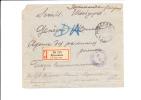 A0287    LETTRE POUR LA CROIX ROUGE   CENSURE  1916 - 1857-1916 Empire