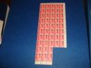 N° 827 En Bloc De 46  Timbres Neuf** - Full Sheets