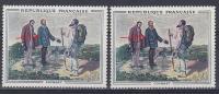 FRANCE VARIETE  N° YVERT  1363 OEUVRE DE COURBET NEUFS  LUXE - Varieties: 1960-69 Mint/hinged