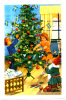 Jenny Nystrom Signed Decorating Tree God Jul Merry Christmas Mini Postcard - Altri