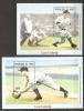 Niger 1999 N° BF 114 / 5 ** Sport, Base-ball, Hommage, Lou Gehrig, Portraits Du Joueur, Batteur, Balle, Gants, Receveur - Niger (1960-...)