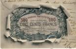 Carte Représentant Un Billet De 500 Francs Belge - 1902 ( Voir Verso ) - Monnaies (représentations)