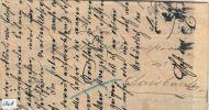 HANDGESCHREVEN BRIEF Uit 1867 Naar  HEIDELBERG 3 RONDSTELPELS: CARLSRUHE + HEIDELBERG-BASEL + HEIDELBERG-Würzburg (1808) - Postwaardestukken