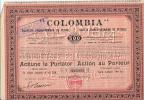COLOMBIA Sociéte Franco Roumaine De Pétrole Action Au Porteur 500 LEI - Petróleo