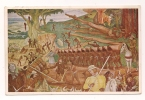 Cp , MEXIQUE , Palacio National De Mexico , El Desembarco De Cortes En Veracruz , 1519 - Mexique
