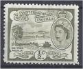 ST KITTS-NEVIS 1954 Salt Pond, Anguilla - 1/2c. Olive MH - St.Christopher, Nevis En Anguilla (...-1980)
