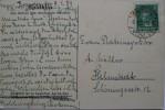 1929 GERMANY POSTCARD DRESEN TO HELMSTEDT WITH PICTURE OF MOTORTANKSCHIFF SPIDOLIN - Deutschland