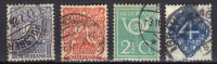 A  951 Pays-Bas >   (Wilhelmine) > 1910-29 > Oblitérés  N ° 107/110 - Gebraucht