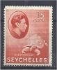 SEYCHELLES 1938 George VI -  Giant Tortoise - 15c. Red MH CORNER CREASE CHEAP PRICE - Seychelles (...-1976)