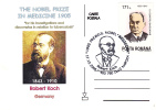 The Nobel Prize In Medicine 1905 ROBERT KOCH GERMANY, Obliteration Concordante On Postcard 2005 Romania. - Medicina