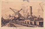 19547 CAEN - Le Chargement D´un Train Minerai Dans Le Port. 124 La Cigogne -wagon Grue Bateau