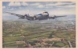 """CP Couleur Avion DOUGLAS DC4 Collection Air France """"En Service Sur Les Lignes Long-courriers"""" - 1946-....: Moderne"""