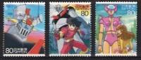 Japan Cancelled. 2004. Y&T 3563-5. Manga Pictures - 1989-... Emperor Akihito (Heisei Era)