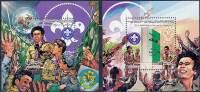 LIBYA 1982 KHADAFI / BOY SCOUTS X2 S/S SC# 1012-13 SCARCE VF MNH - Scoutismo