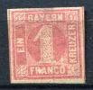 8488) BAYERN # 3 Ungebraucht Aus 1850, 120.- € - Bayern