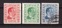 LITHUANIA, 1936, MI 410-412, MNH, Used - Lithuania