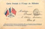 CARTE POSTALE A USAGE MILITAIRE CARTE EN FRANCHISE - Marcophilie (Lettres)