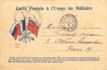 CARTE POSTALE A L'USAGE MILITAIRE - Marcofilie (Brieven)