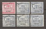 6 Verschillende Beursbelasting Zegels Revenue Stamps - Steuermarken