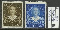 NEDERLAND NETHERLANDS Niederlande Michel 509 - 510 MNH - 1891-1948 (Wilhelmine)